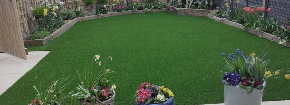Artificial Grass installation in Sherfield on Loddon Reading Berkshire