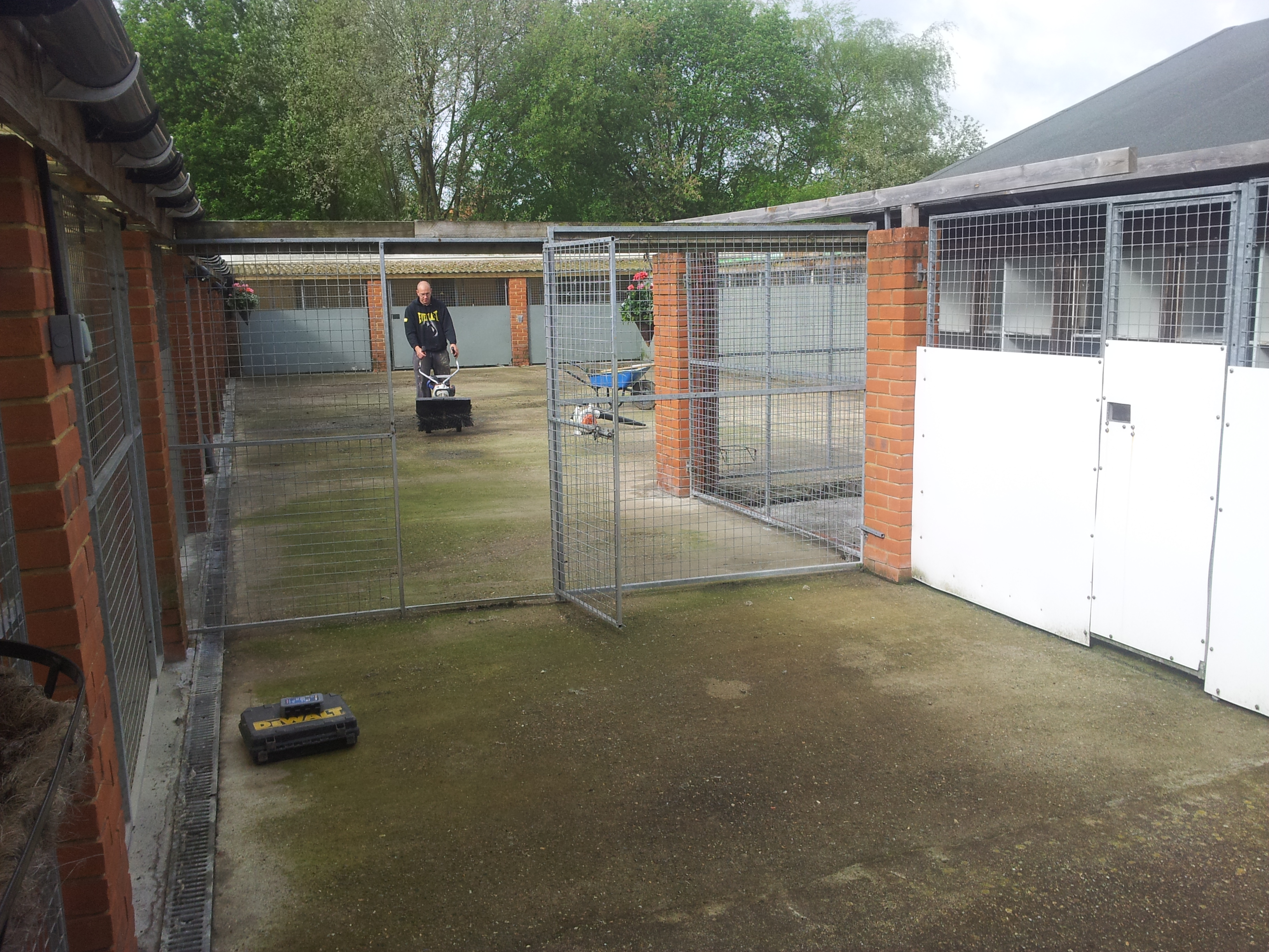 Artificial Grass Installation for dog kennels